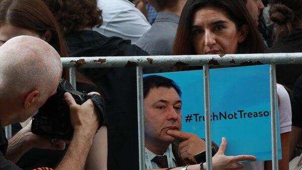Tại Moskva đang diễn ra sự kiện ủng hộ các nhà báo RIA Novosti - Sputnik Việt Nam
