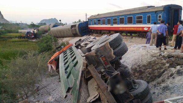 Hiện trường vụ tai nạn lật tàu thương tâm ở Thanh Hóa. - Sputnik Việt Nam