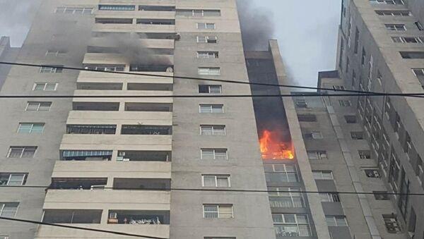 Hà Nội: Cháy tầng 18 chung cư Bắc Hà - Sputnik Việt Nam