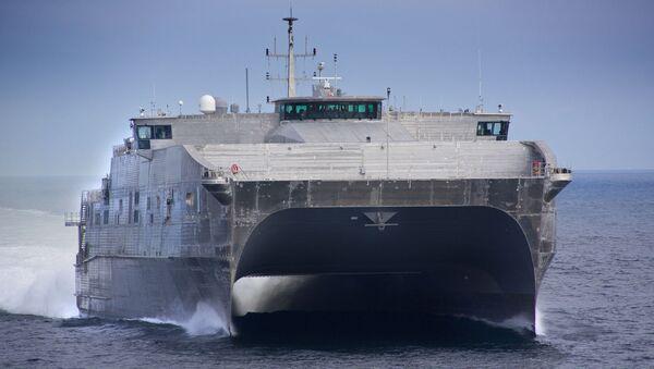 Tàu Hải quân của Mỹ mang tên JHSV 6 - Sputnik Việt Nam
