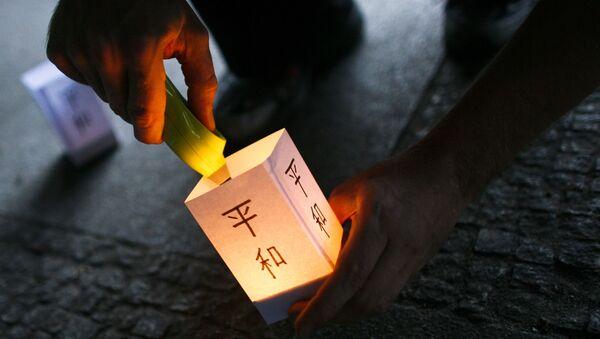 Đèn lồng Nhật Bản tưởng niệm nạn nhân bom nguyên tử tại Hiroshima - Sputnik Việt Nam