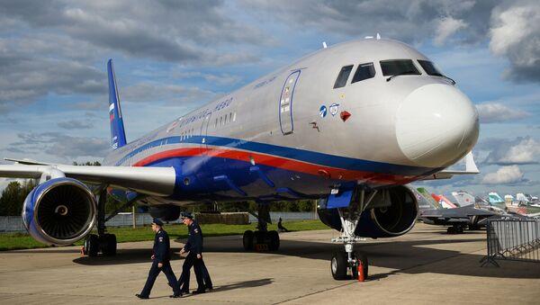 Máy bay trinh sát mới nhất của Nga Tu-214ON. - Sputnik Việt Nam