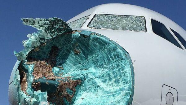 Ở Mỹ máy bay trúng cơn bão với mưa đá - Sputnik Việt Nam