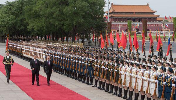 Tổng thống Nga Vladimir Putin đã đến thủ đô Bắc Kinh của Trung Quốc trong chuyến thăm chính thức - Sputnik Việt Nam