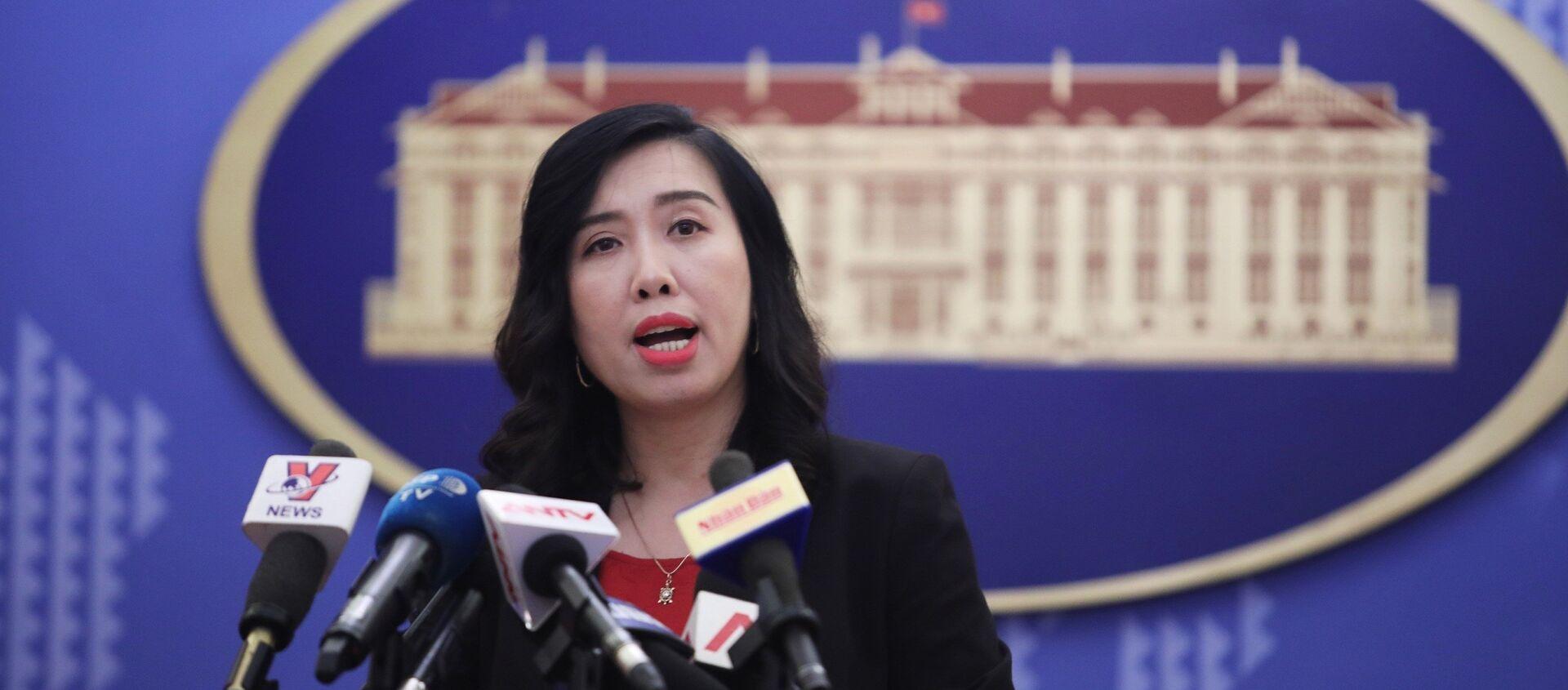 Người phát ngôn Bộ Ngoại giao Lê Thị Thu Hằng - Sputnik Việt Nam, 1920, 08.06.2018