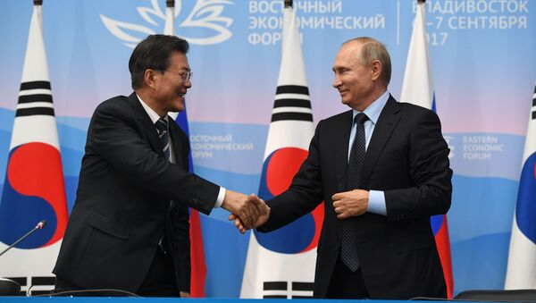 Vladimir Putin và Moon Jae-in - Sputnik Việt Nam