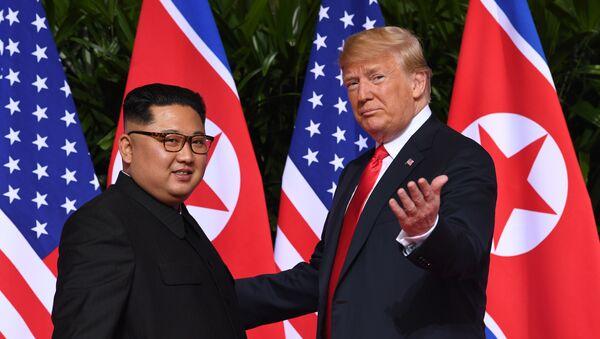 Donald Trump và Kim Jong-un - Sputnik Việt Nam