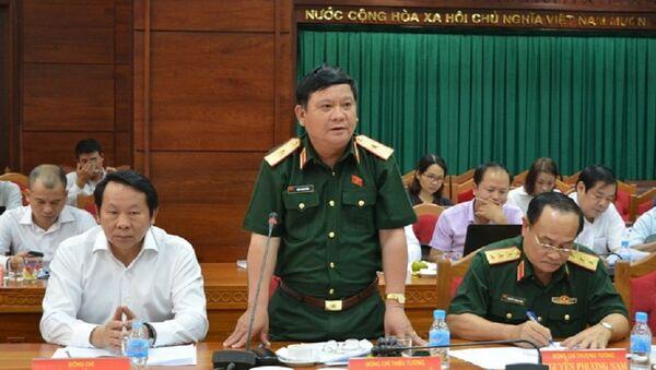 Thiếu tướng – ĐBQH Đặng Ngọc Nghĩa, Ủy viên thường trực Ủy ban Quốc phòng và An ninh của Quốc hội. - Sputnik Việt Nam