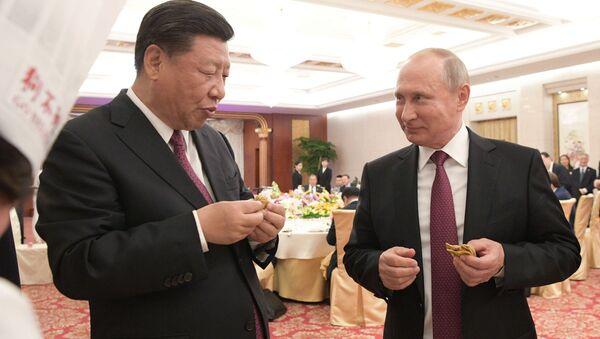 Tổng thống Nga Vladimir Putin đã làm trong chuyến thăm Trung Quốc tại thành phố Thiên Tân - Sputnik Việt Nam
