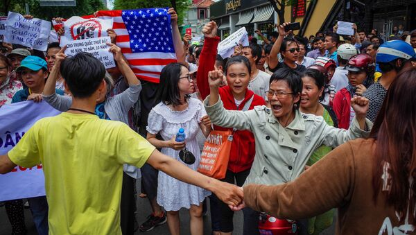 Biểu tình phản đối thông qua luật Đặc khu tại Việt Nam - Sputnik Việt Nam