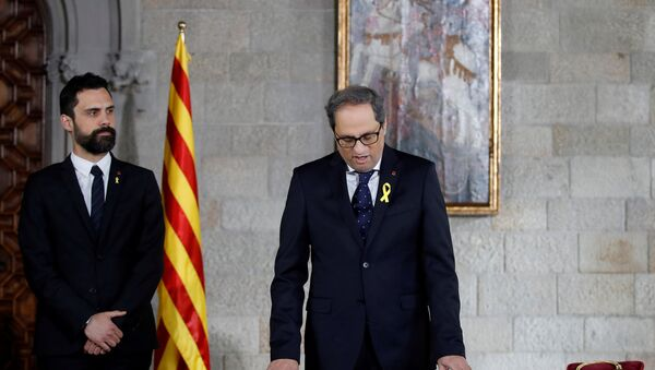 Người đứng đầu chính phủ Catalonia Quim Torra - Sputnik Việt Nam