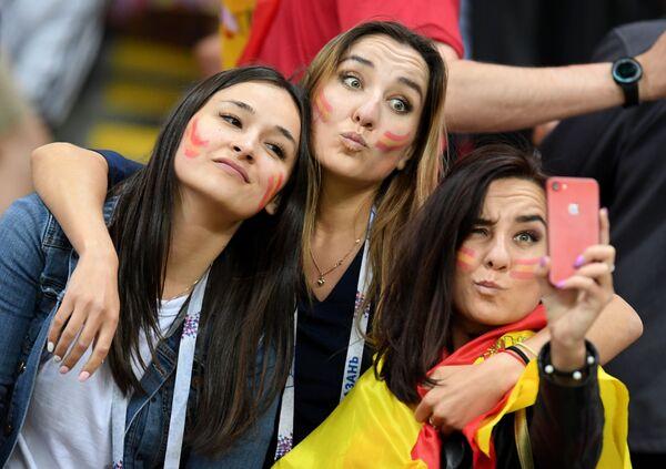 Những người hâm mộ đội tuyển quốc gia Tây Ban Nha trong trận đấu vòng bảng của World Cup giữa hai đội tuyển quốc gia Iran và Tây Ban Nha - Sputnik Việt Nam