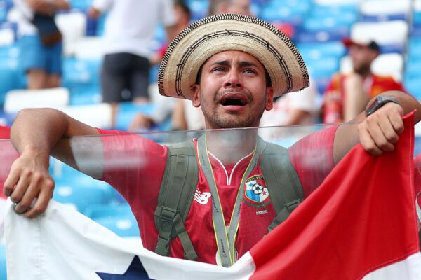 Fan của đội tuyển Panama tại trận đấu vòng bảng World Cup giữa Anh và Panama - Sputnik Việt Nam