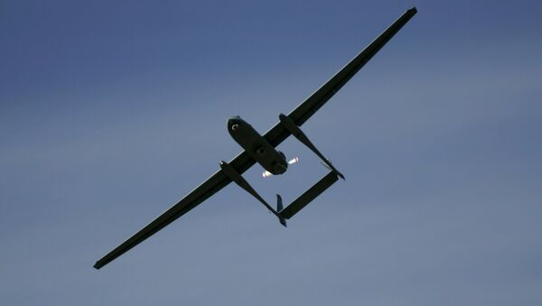 Máy bay không người lái Heron TP hay còn gọi bằng cái tên Eitan tại căn cứ Không quân Palmahim của Israel - Sputnik Việt Nam