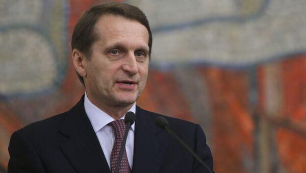 Chủ tịch Duma quốc gia Nga Sergei Naryshkin  - Sputnik Việt Nam