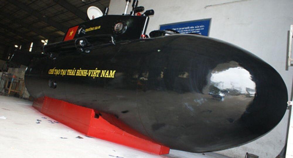 Tàu ngầm Trường Sa 2 sẽ có hình dáng giống tàu ngầm Trường Sa 1 và có thể chở được 4 người.