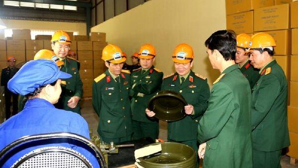 Sản phẩm do Nhà máy sản xuất cho Cục Quân nhu. - Sputnik Việt Nam