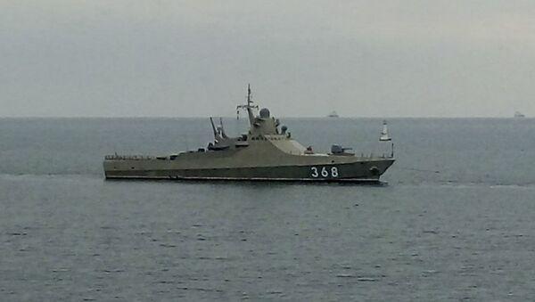 Tàu tuần tra mới nhất (tàu hộ tống) của Hải quân Nga Vasily Bykov (Dự án 22160) - Sputnik Việt Nam