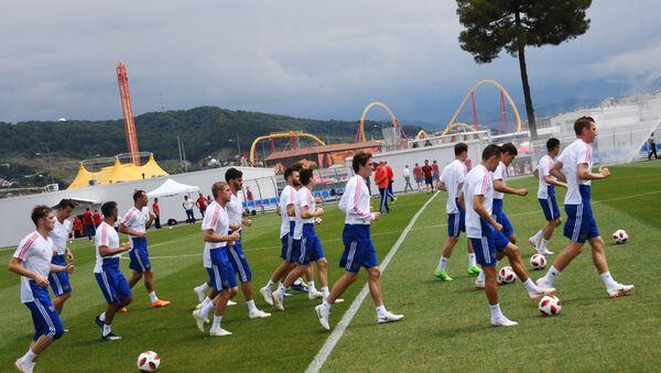 Cuộc tập luyện của đội tuyển Nga - Sputnik Việt Nam
