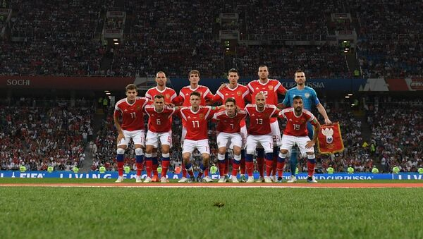 Trận đấu vòng tứ kết World Cup giữa đội tuyển Nga và Croatia - Sputnik Việt Nam