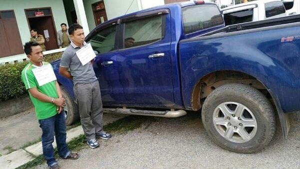 Các đối tượng vận chuyển ma túy tại biên giới khu vực Vân Hồ, Mộc Châu bị bắt giữ trong năm 2018. - Sputnik Việt Nam