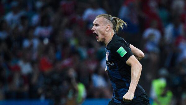 Domagoi Vida trong khi trận đấu vòng tứ kết World Cup giữa đội tuyển Nga và Croatia - Sputnik Việt Nam