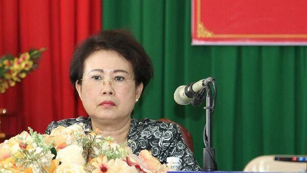 Bà Mỹ Thanh trong lần tiếp xúc cử tri cuối cùng vào đầu tháng 5-2018. - Sputnik Việt Nam