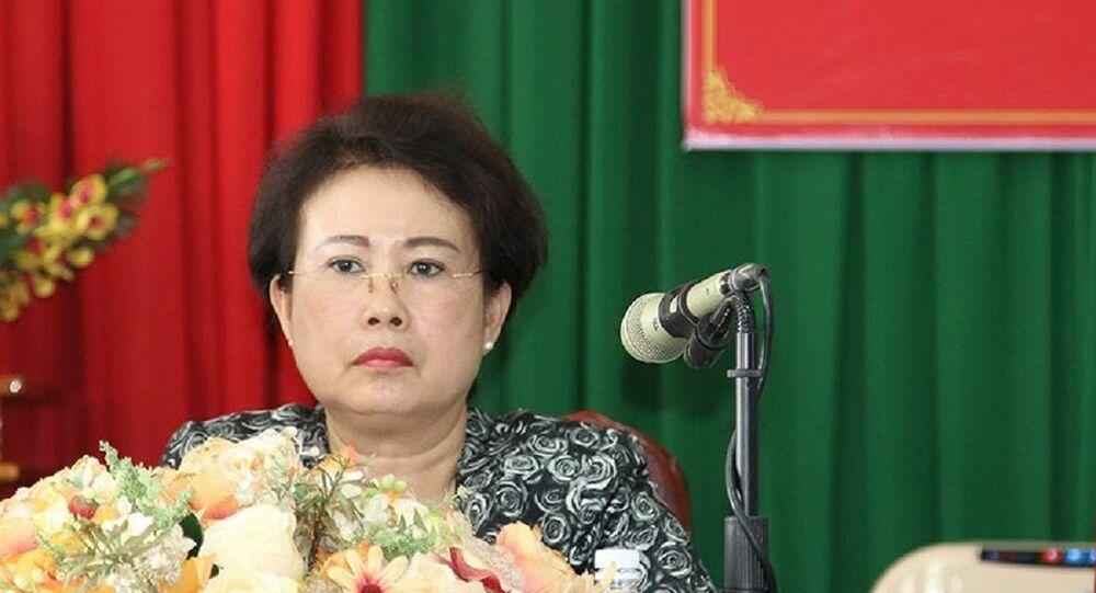Bà Mỹ Thanh trong lần tiếp xúc cử tri cuối cùng vào đầu tháng 5-2018.