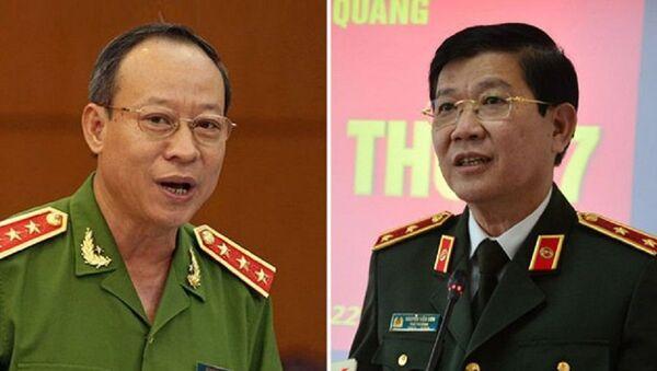 Thượng tướng Lê Quý Vương (bên trái) và Trung tướng Nguyễn Văn Sơn (bên phải). - Sputnik Việt Nam