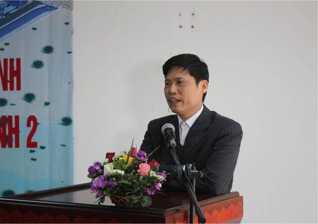 Trưởng Ban QLDA Nguyễn Thành Hưởng báo cáo tóm lược tiến độ thực hiện Dự án NMNĐ Thái Bình 2