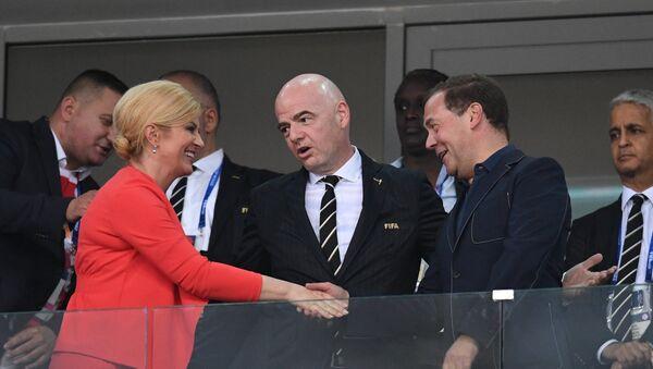 Chủ tịch FIFA nói chuyện gì với các nguyên thủ quốc gia trong lúc xem bóng đá? - Sputnik Việt Nam