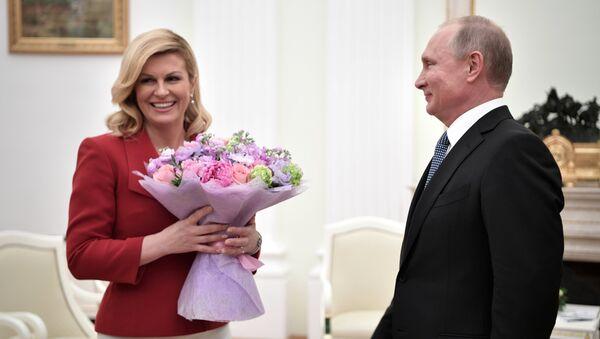 Tổng thống Croatia, bà Kolinda Grabar-Kitarovic - Sputnik Việt Nam