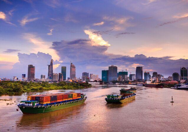 Quang cảnh thành phố Hồ Chí Minh của Việt Nam