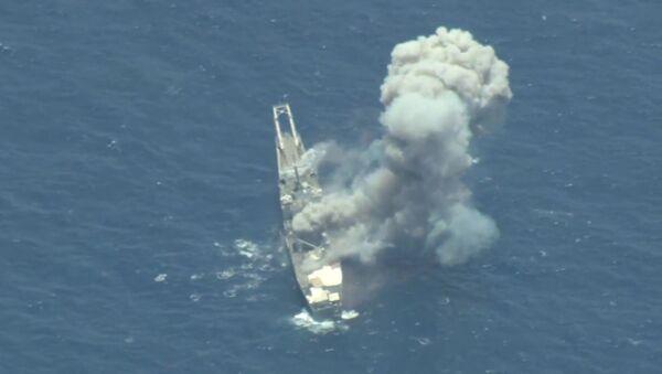 Xuất hiện video về tàu chiến Mỹ USS Racine (LST-1191) bị đánh chìm trong cuộc tập trận RIMPAC  - Sputnik Việt Nam