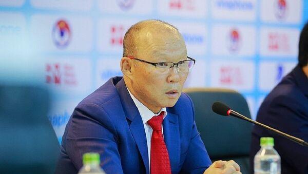 Ông Park Hang-seo, Huấn luyện viên trưởng đội tuyển U23 Việt Nam phát biểu tại buổi lễ. - Sputnik Việt Nam