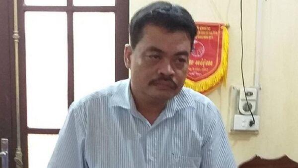 Bị can Nguyễn Thanh Hoài- trưởng phòng khảo thí Sở GDĐT Hà Giang - Sputnik Việt Nam