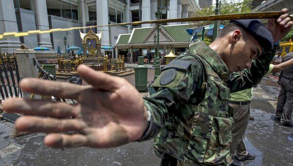 Các chuyên gia làm việc tại hiện trường vụ nổ ở Bangkok - Sputnik Việt Nam