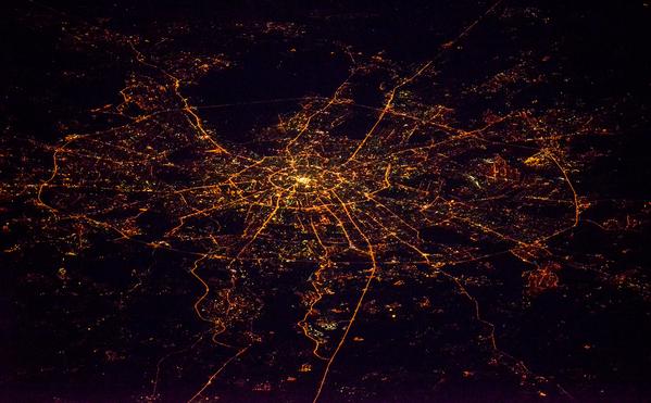 Moskva về đêm nhìn từ vũ trụ - Sputnik Việt Nam