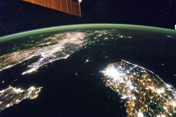 Bán đảo Triều Tiên chụp từ ISS - Sputnik Việt Nam