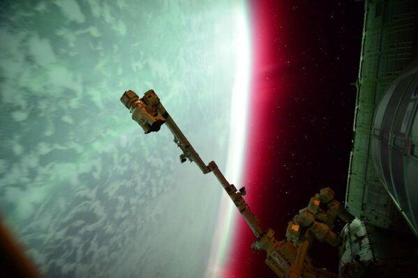 Bắc cực quang nhìn từ trạm không gian quốc tế - Sputnik Việt Nam