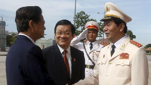 Thủ tướng Việt Nam Nguyễn Tấn Dũng, Chủ tịch Việt Nam Trương Tấn Sang và Bộ trưởng Bộ Công an Việt Nam Trần Đại Quang - Sputnik Việt Nam