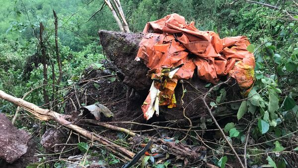 Các bộ phận của máy bay Su22 rơi tại hiện trường. - Sputnik Việt Nam
