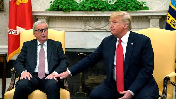 Donald Trump và Jean-Claude Juncker - Sputnik Việt Nam