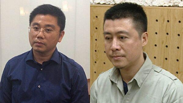 Bị can Nguyễn Văn Dương (đeo kính) và Phan Sào Nam. - Sputnik Việt Nam