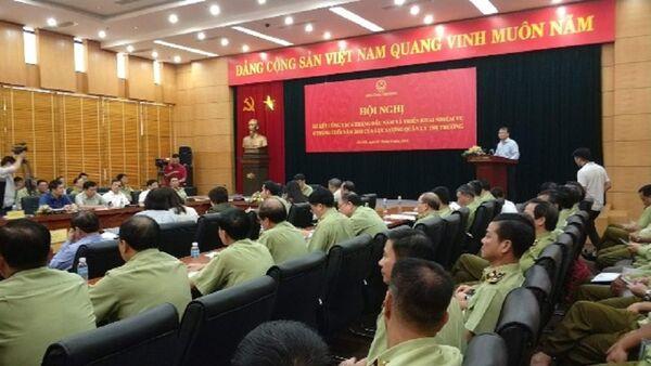 Thứ trưởng Bộ Công Thương Đỗ Thắng Hải phát biểu tại Hội nghị. - Sputnik Việt Nam