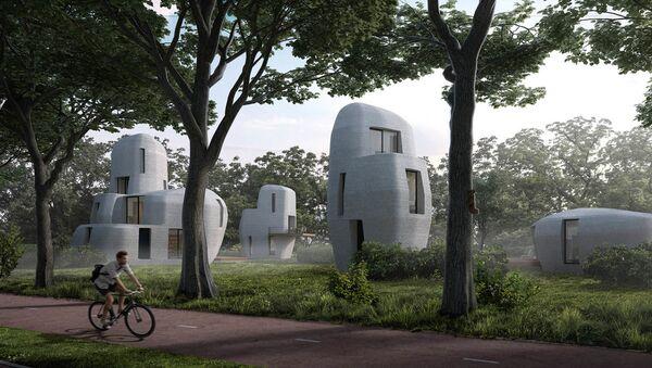 Ở Hà Lan sẽ xuất hiện khu dân cư với các ngôi nhà được in trên máy 3D - Sputnik Việt Nam