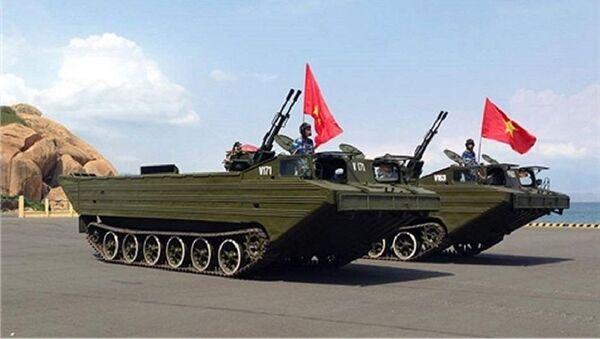 Xe PTS-M được Việt Nam tích hợp vũ khí phòng không. - Sputnik Việt Nam