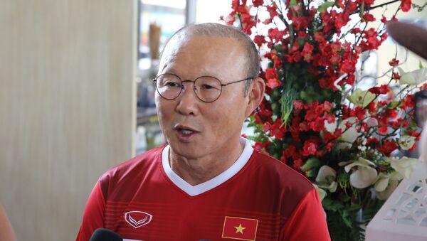 ASIAD 2018: HLV Park Hang Seo trả lời phỏng vấn báo chí - Sputnik Việt Nam