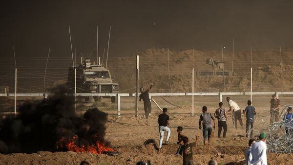 Vụ đụng độ của người Palestine với quân đội Israel - Sputnik Việt Nam