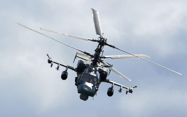 Trực thăng Ka-52 trong khi diễn đàn quân sự-kỹ thuật quốc tế thường niên Quân đội 2018 - Sputnik Việt Nam